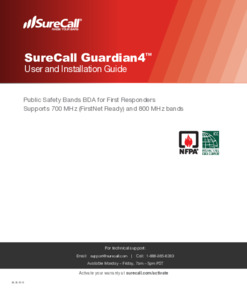SureCall Guardian4 Product Manual